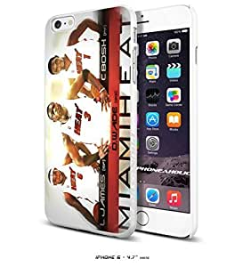 Basketball NBA MIAMI HEAT THRICE, JAMES WADE BOSH,Cool iphone 5c Inch Smartphone Case Cover Collector iphone TPU Rubber Case White [By PhoneAholic]