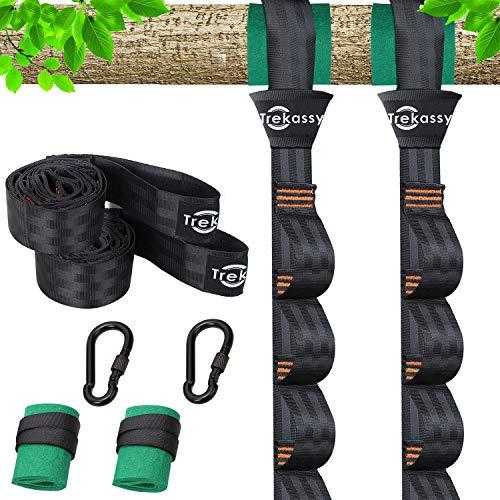 Trekassy 5200 lbs Adjustable Tree Swing Hanging Straps Kit with Tree Protectors Carabiners Heavy Duty for Hammock & Swing Seat