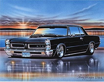 Amazon Com 1965 Pontiac Gto Hardtop Muscle Car Art Print Black
