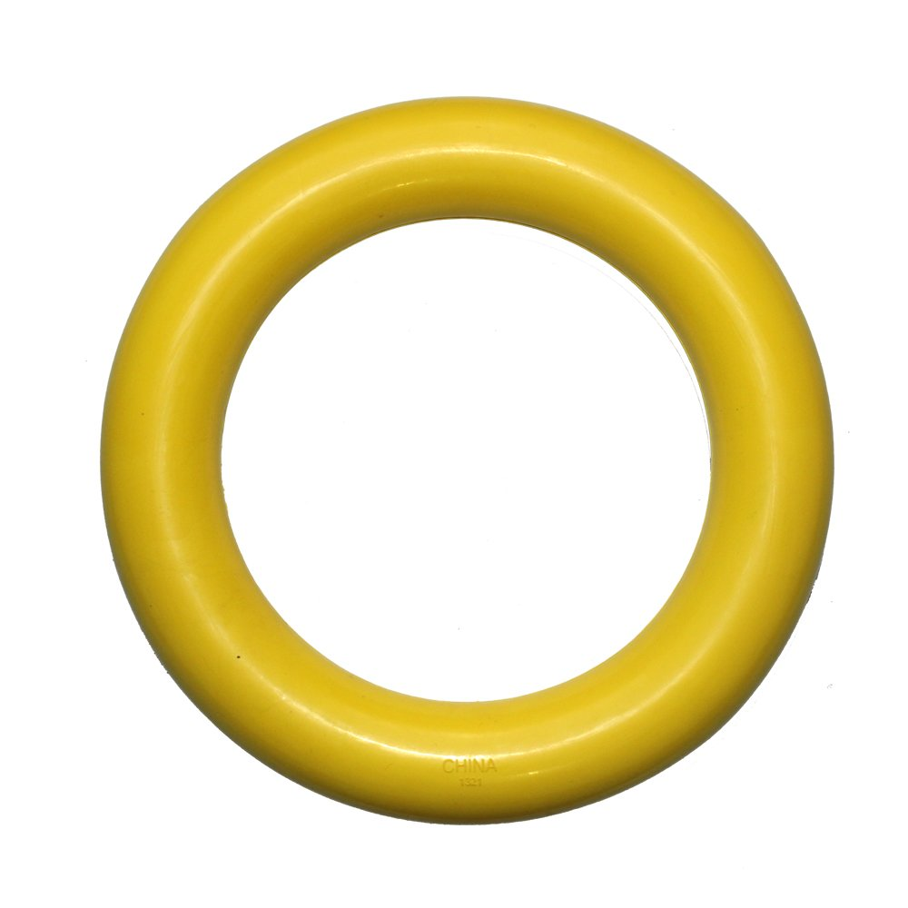 Lingchuang Dog Flying Ring/Frisbee Dog Pets Flying Disc/Non-Toxic Chew Toys (Yellow)