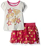 WARNER BROS Toddler Girls' Stars 2-Piece Skirt Set, Oatmeal, 3T