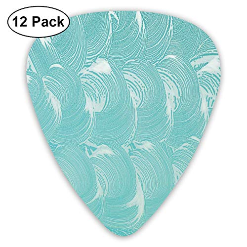 Celluloid Guitar Picks - 12 Pack,Abstract Art Colorful Designs,Foam And Soap Carbonated Clean Fresh Hygiene Purity Shampoo Design,For Bass Electric & Acoustic Guitars.