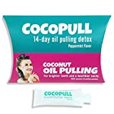 Coconut Oil Swishing Cocopull - Oil Pulling Coconut Oil - Coconut Oil Pulling Teeth Whitening - 14 Packets with Coconut Oil for Teeth, Helps Remove Coffee Stains on Teeth, Gets Rid of Bad Breath