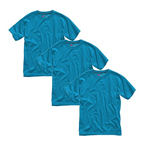 3-Pack Hanes Beefy Jersey Short Sleeve Crew Neck Youth T-Shi