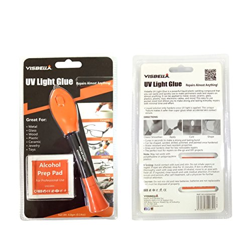 UV Light Glue Kit Clear Adhesive Liquid Plastic Welder 5 Seconds Repair Almost Anything (Pen Epoxy)