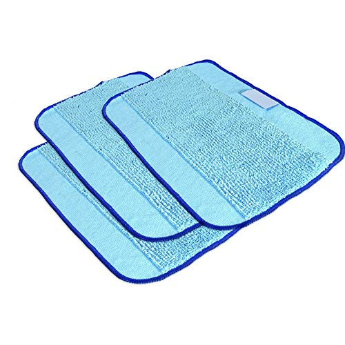 Braava Floor Mopping for Irobot 380 380T Series,Tweippy Washable Reusable Microfiber Cleaning Cloths 3 Pack ()