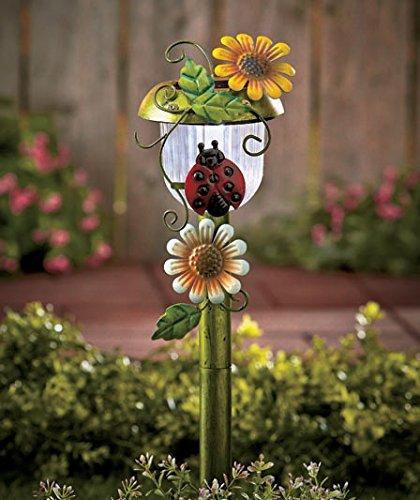 Solar Powered Ladybug Stake Whimsical Garden Yard Lawn Flowe