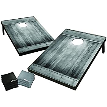 Wild Sports 2' x 3' Cornhole Set, Gray Wood Design