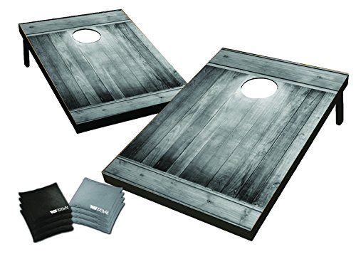Wild Sports 2' x 3' Cornhole Set, Gray Wood Design by Wild Sports