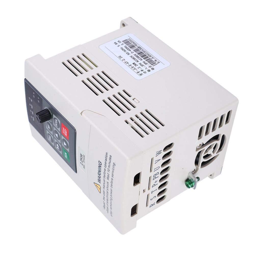 Nitrip Plastic 380V 2.2KW VFD Variador de frecuencia Variador para control de velocidad del motor Entrada trif/ásica Salida