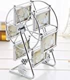 leecum Ferris Wheel Photo Frame 3 Inch or 5 Inch Retro Style Can Rotated Sets for Prop Desk Bedside Graduation Grandkids Family Personalized Unique Album Picture Frames Home Decoration