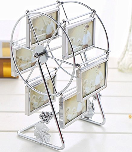 Metal Ferris Wheel Photo Frame 3 inch or 5 inch Retro Style Can Rotated Personalized Unique Gifts Album Picture Frames Home Decoration