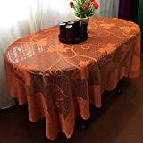 lace leaf maple Stillbetter Thanksgiving Decoration Table Decor Cloth Rectangle Lace Cover Maple Leaf Pumpkin Tablecloth 60 x 84 inch