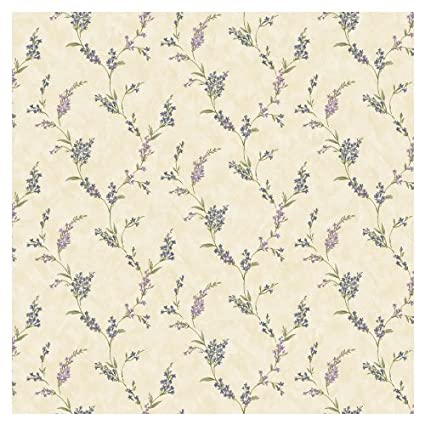 Allen Roth Mid Tone Floral Trail Wallpaper