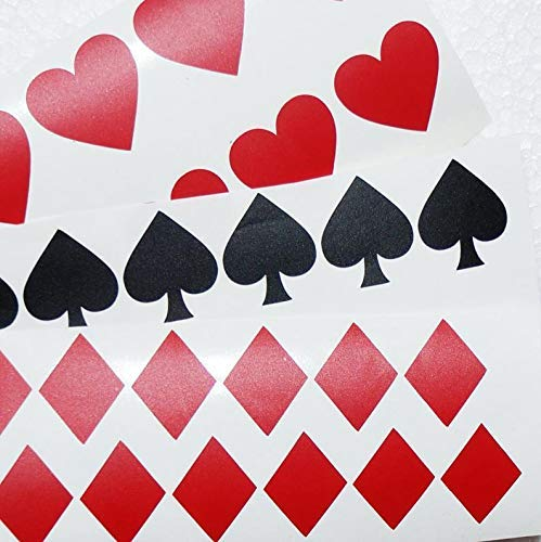 Amazoncom 40 Suit Playing Cards Decals Vinyl Card Symbol
