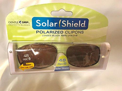 Solar Shield Clip-On Full Frame PolarAB Polarized Sunglasses, Driving - Walmart Polarized On Clip Sunglasses