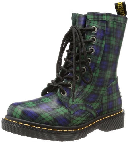 Martens Tartan Plaid Boots - 1