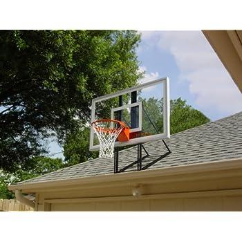 Roof King Platinum: Garage Roof Mount Basketball Hoop System With 60 Inch  Backboard,