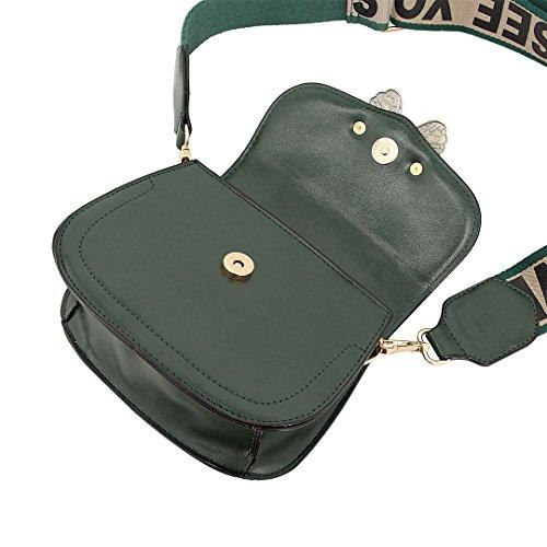 Candice Bag Bag Purse Shoulder Green Women Leather PU Gift Fashionable Butterfly Crossbody Handbag Rw4xfURq