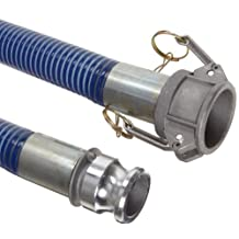 Goodyear EP Cold Blue PVC Suction/Discharge Hose Assembly, 2-Inch Aluminum Cam and Groove Connection, 29mmHg Vacuum Rating 80 PSI Maximum Pressure, 20-Feet Length, 2-Inch ID