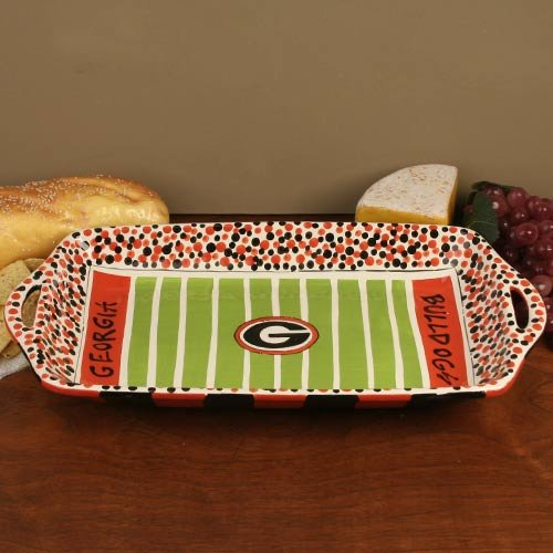 - NCAA Georgia Bulldogs Red-White Ceramic Stadium Tray