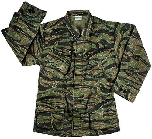 Vietnam Fatigues Military Jungle Uniform Vintage Army BDU Ripstop Tactical Cargo (Stripe Tiger Vietnam Fatigue Shirt)