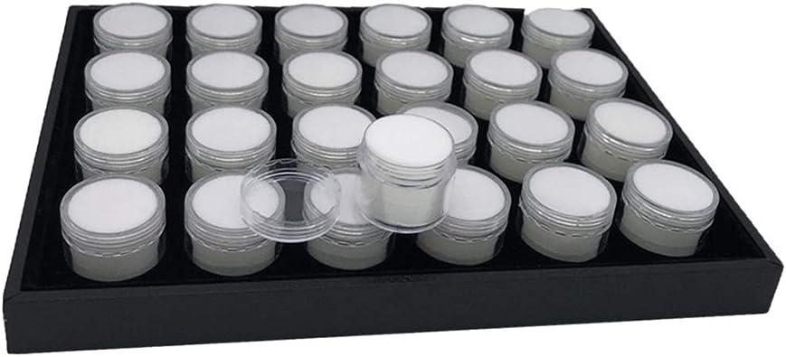 P Prettyia Caja De Almacenamiento De Gemas Caja De Almacenamiento De Accesorios De Pintura De Diamantes Cuentas De Diamantes De Imitación Contenedor Organizador - Blanco: Amazon.es: Joyería