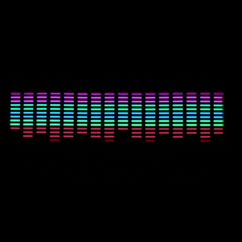 ESUPPORT 45 x 11cm Sound Music Activate Sensor Car Auto Sticker LED Light Equalizer Glow