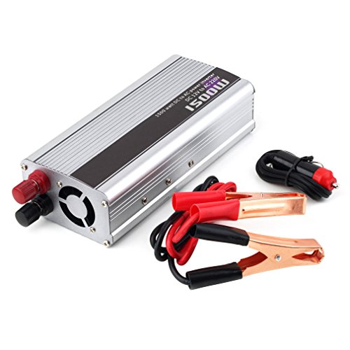 Maistore 1500W Voiture DC 12V vers AC 220V protection contre les surcharges protection contre la polarité inversée Power Inverter chargeur convertisseur pour électronique