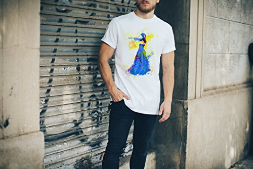 Violine Player I Herren T- Shirt , Stylisch aus Paul Sinus Aquarell Color