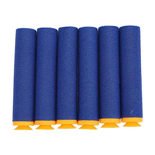 30Pcs Fléchettes Recharge Balles de Rechange en Mousse Doux 9.2cm avec Ventouse pour Jouet à Pistolet Nerf N-strike Mega Séries ( Color : Dark Blue ) … …