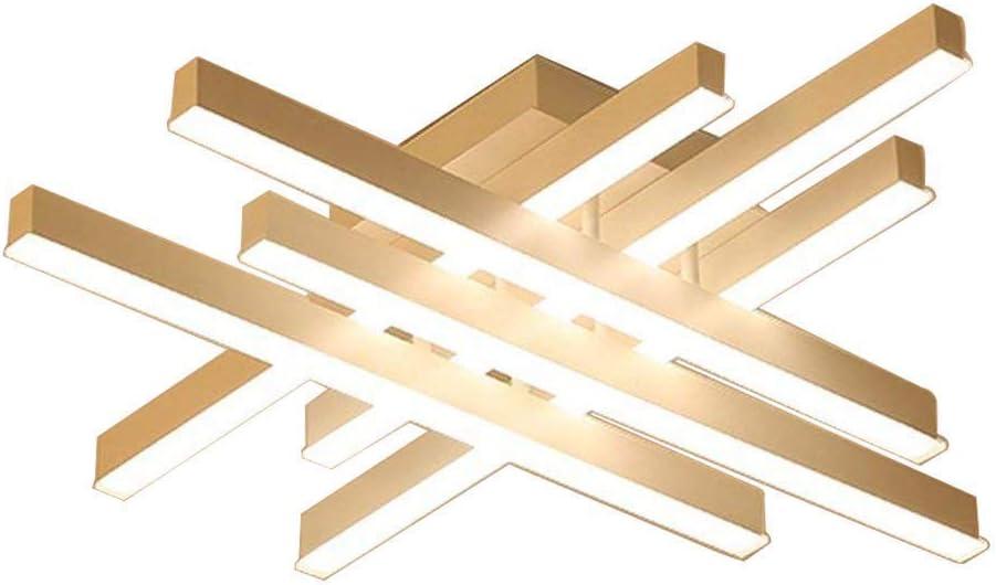 Plafones LED Moderna Regulable con control remoto Luz de techo Creativo Aluminio Acrílico Focos Rectangular lámpara de techo para sala de estar Dormitorio Comedor Loft Restaurante Cocinas, Ø62cm 48W: Amazon.es: Iluminación