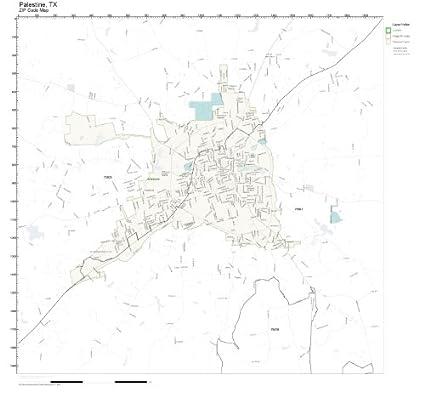 Amazon.com: ZIP Code Wall Map of Palestine, TX ZIP Code Map Not ...