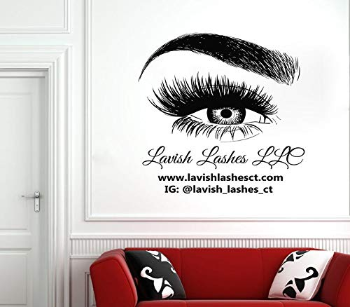 Z55 Pack (BYRON HOYLE Wall Decal Window Sticker Beauty Salon Woman Face Eyelashes Lashes Eyebrows Brows z55)