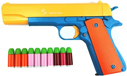 50PCS Revolver Soft Rubber Refill Toy Bullet Pack for 1:1 Scale Colt X