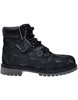 6 Inch Classic Big Kids Boots Black Floral tb0a177s