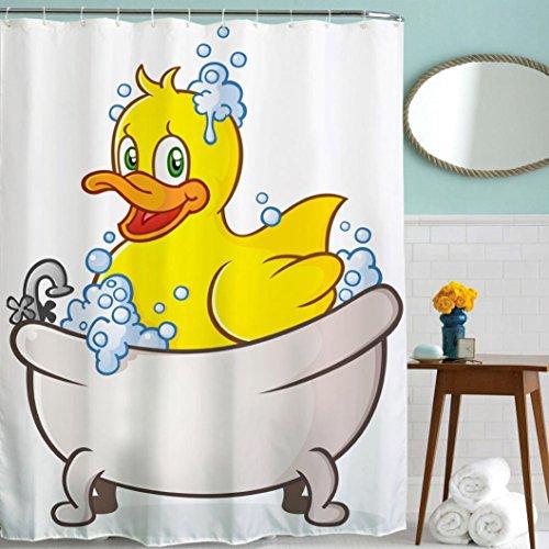 "Hot Sale! AMA(TM) Waterproof Polyester Fabric Bathroom Shower Bath Curtain Home Decor with Hooks Size 60"" x 70"" (G)"
