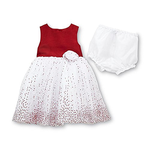 Holiday Editions Infant & Toddler Girl's Sleeveless Party Dress & Diaper Cover (6-9 Months)