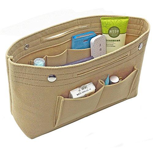 Handbag Organizer Bag Purse Insert Bag in Bag Felt Fabric MultiPocket Liner Organizer Tote Travel Petite Purse Handbag