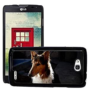 Hot Style Cell Phone PC Hard Case Cover // M00114750 Bitch Pet Colie Animals Pets Dog // LG Optimus L90 D415