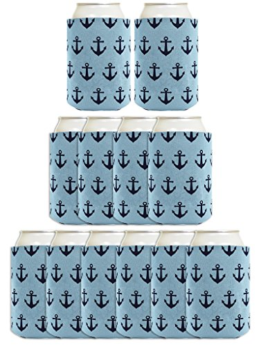 Sailing Pattern Nautical Coolers Coolies