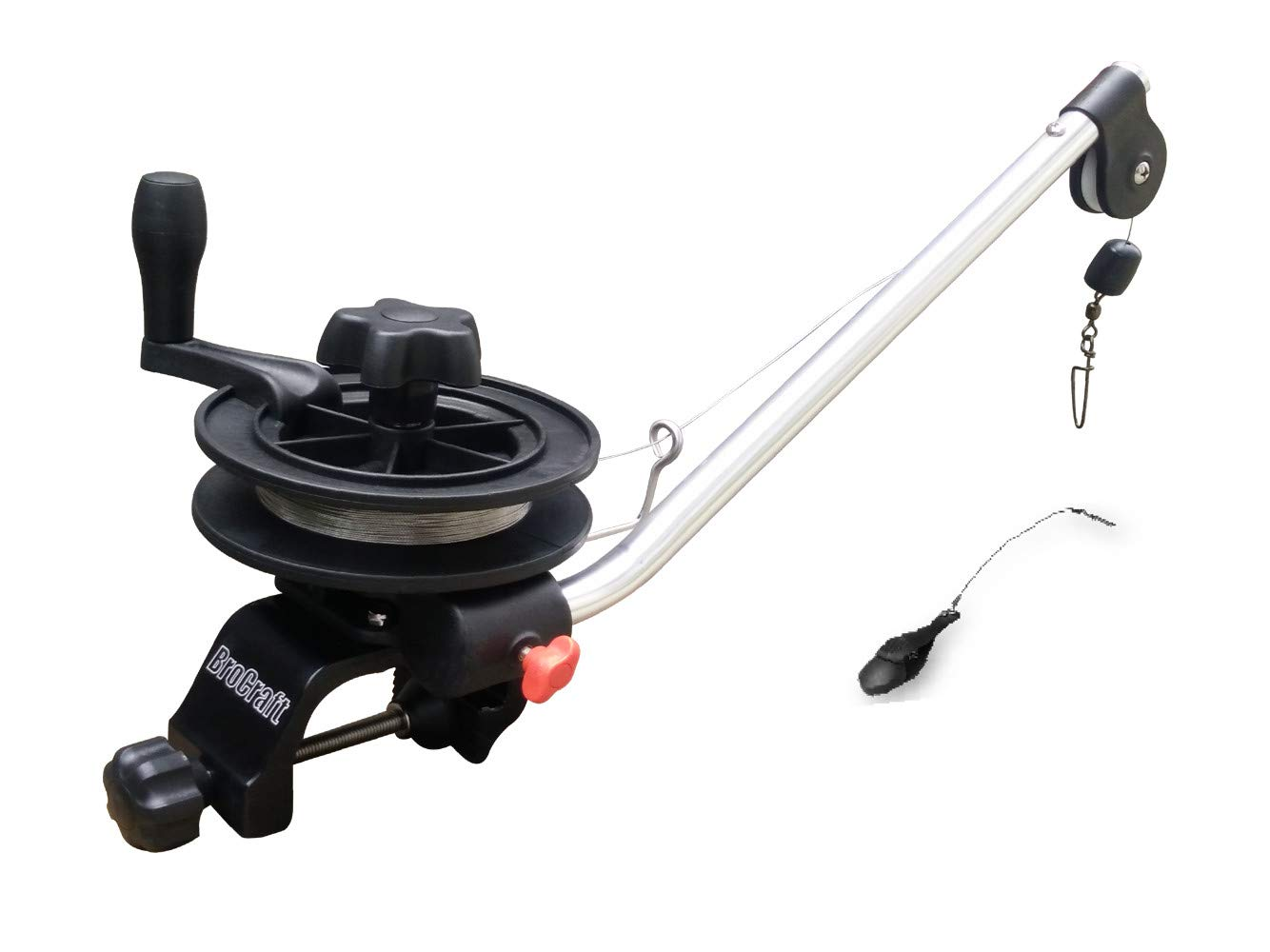 Brocraft Minin Manual Downrigge with Clamp Mount/Lake Troller Manual Downrigger/Clamp On Lake Downrigger