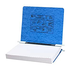ACCO Pressboard Hanging Data Binder, 8.5 x 11 Inches Unburst Sheets, Light Blue (54122)