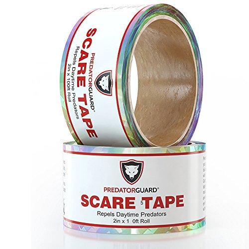 PREDATORGUARD 2 Pack Best Bird Repellent Scare Tape Repels Birds & Daytime Predators - Huge 150 Ft. Rolls