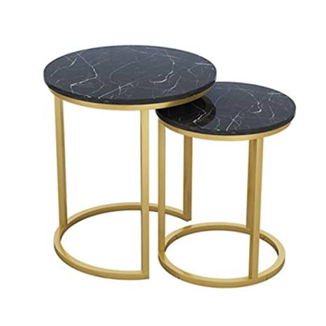 Super Amazon Com Xiaoyan Pack Of 2 Nordic Nesting Table Marble Dailytribune Chair Design For Home Dailytribuneorg