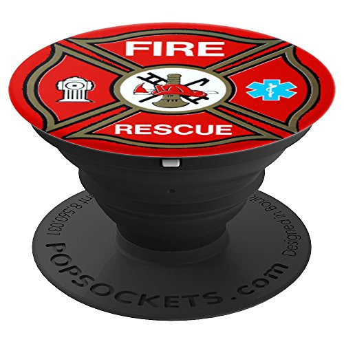 Fire Rescue Firefighter Cross - PopSockets Grip and Stand for Phones and Tablets