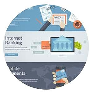 alfombrilla de ratón conceptos de diseño de planos para el pago en línea y noticias - ronda - 20cm