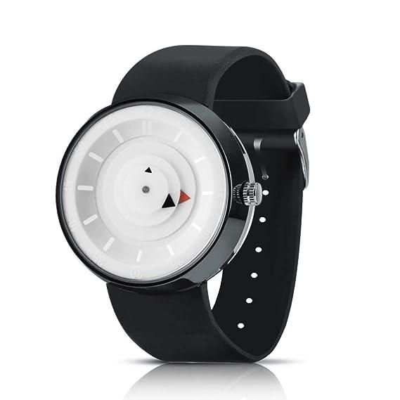 Bestow Reloj de los Hombres de Lujo de Acero Inoxidable de Cuarzo Analšgico de Moda Reloj de los Hombres de Moda(Blanco): Amazon.es: Ropa y accesorios