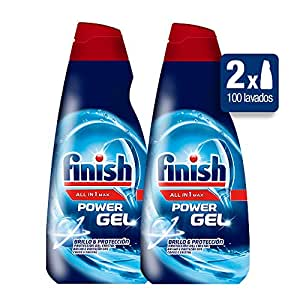 Finish Power Gel Lavavajillas Todo en 1 Max Regular - Pack de 2 x 50 lavados - Total: 100 lavados