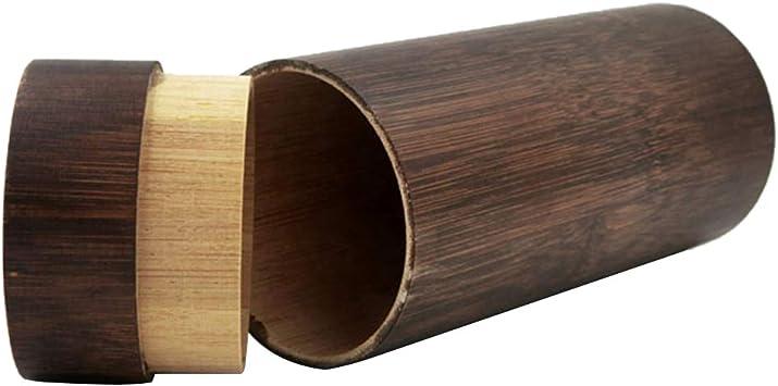 Estuche de Bambú para Anteojos Caja de Gafas Accesorios para Lentes de Contacto: Amazon.es: Salud y cuidado personal